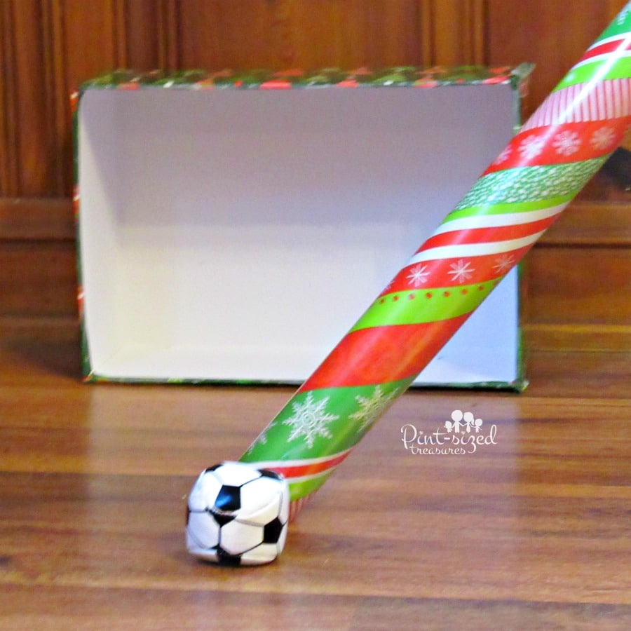christmas wrapping paper hockey game