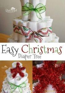 easy diy diaper tree