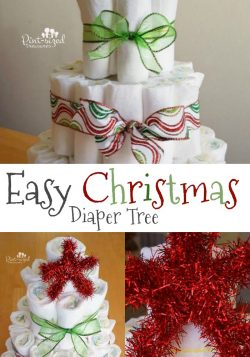 Easy Christmas Diaper Tree
