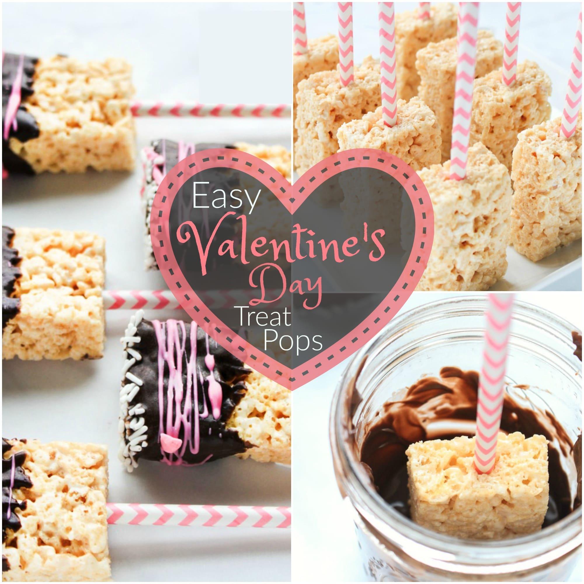 valentine's day rice krispie treat pops