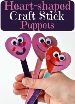 Heart-shaped Craft Stick Puppets