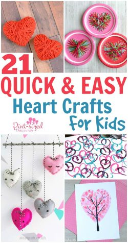 21 Quick and Easy Heart Crafts for Kids