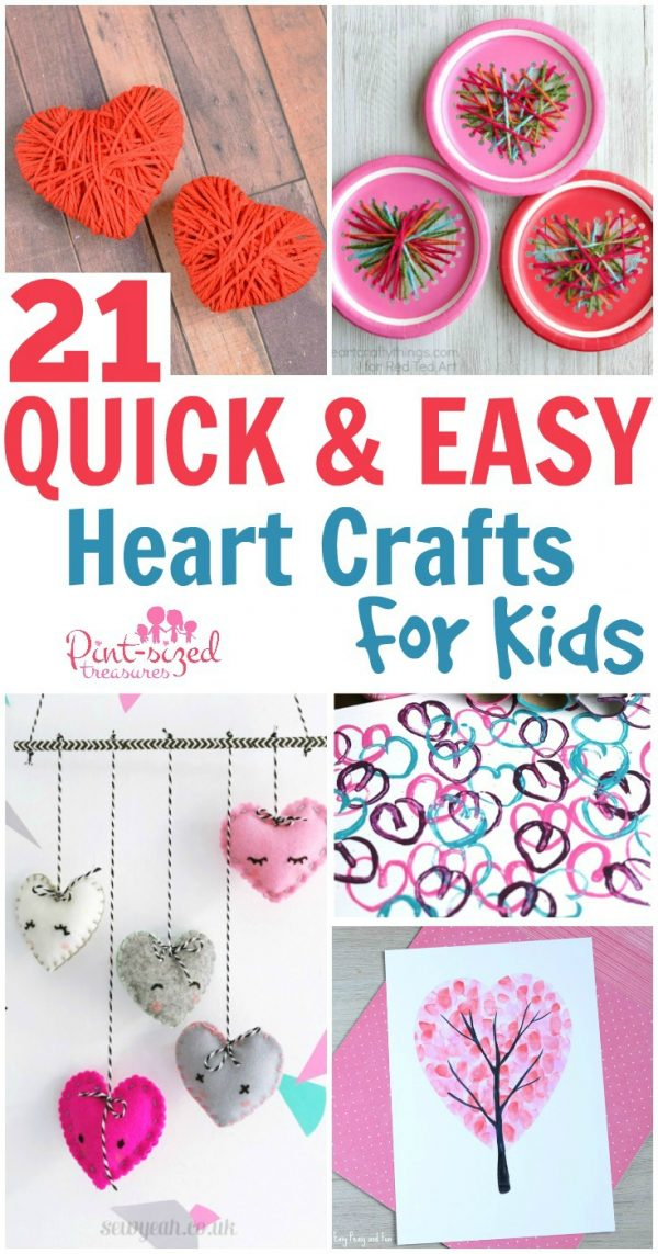quick and easy heart crafts for kids