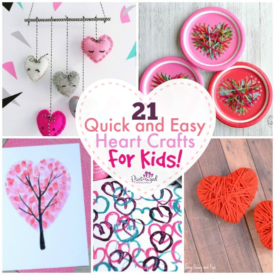 easy heart crafts for kids