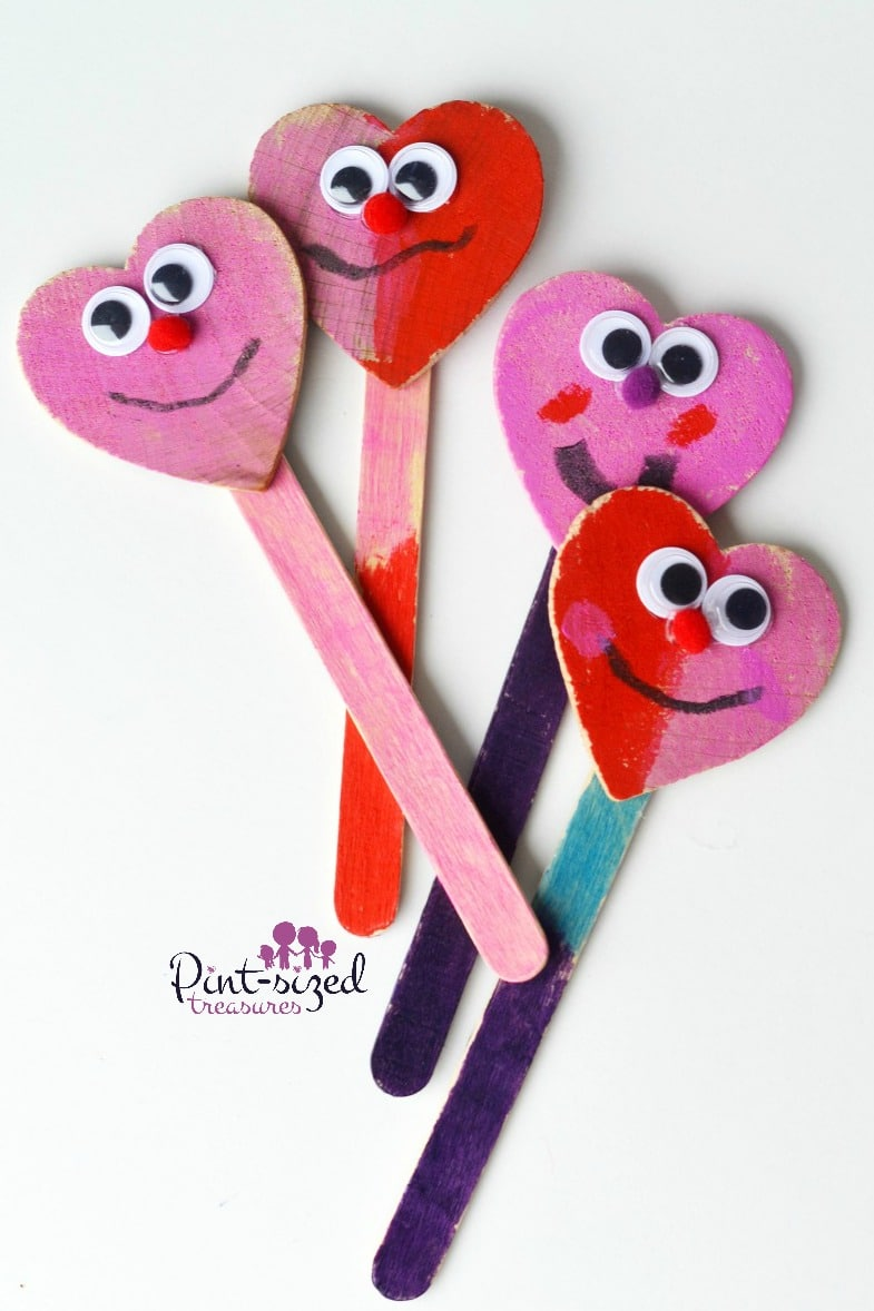 Heart Shaped Craft Stick Puppets 183 Pint Sized Treasures