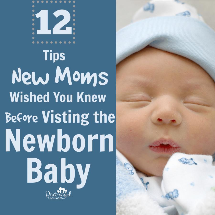 visiting newborn baby
