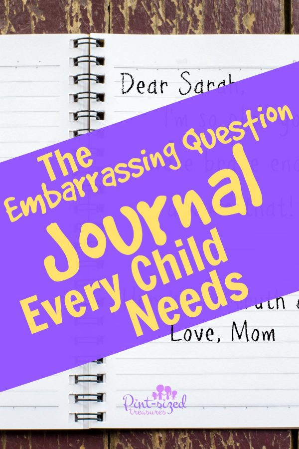 embarrassing question journal for kids