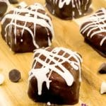 frozen cookies and cream cheesecake bites