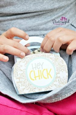 hey chick printable purse for kids