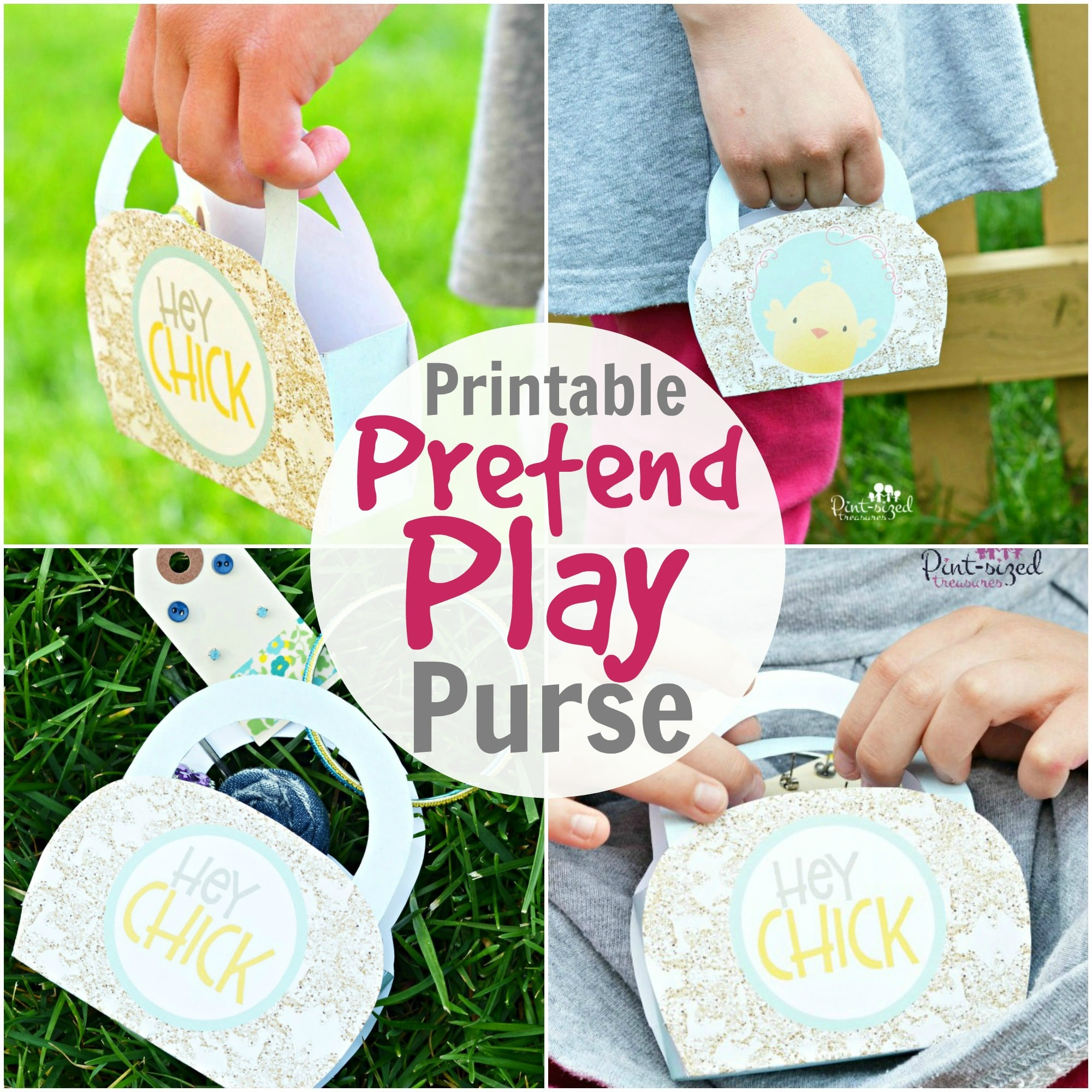 hey chic printable purse