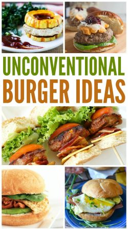 unconventional burger recipes