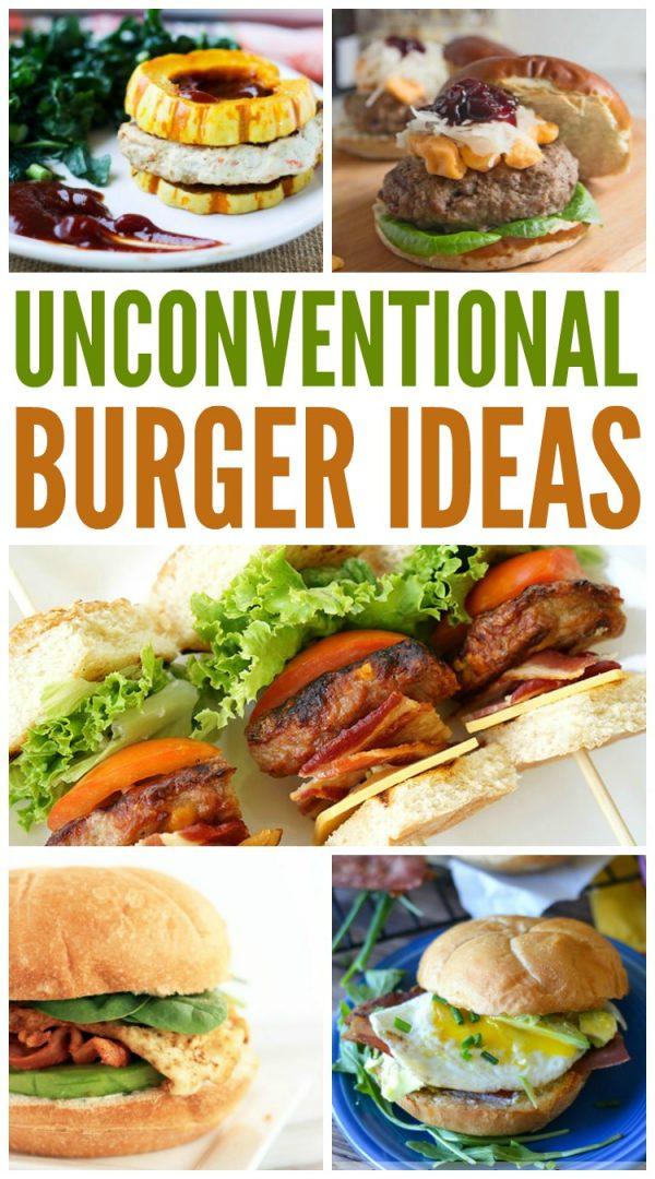 unconventional burger recipes