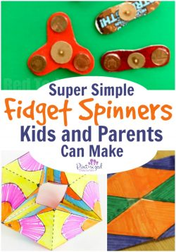 fidget spinners kids and parents can make