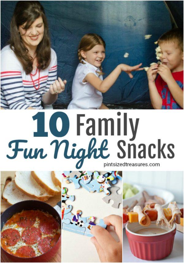 family fun night snacks ideas