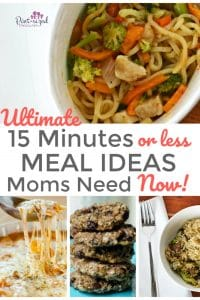 fifteen minute meal ideas for busy moms