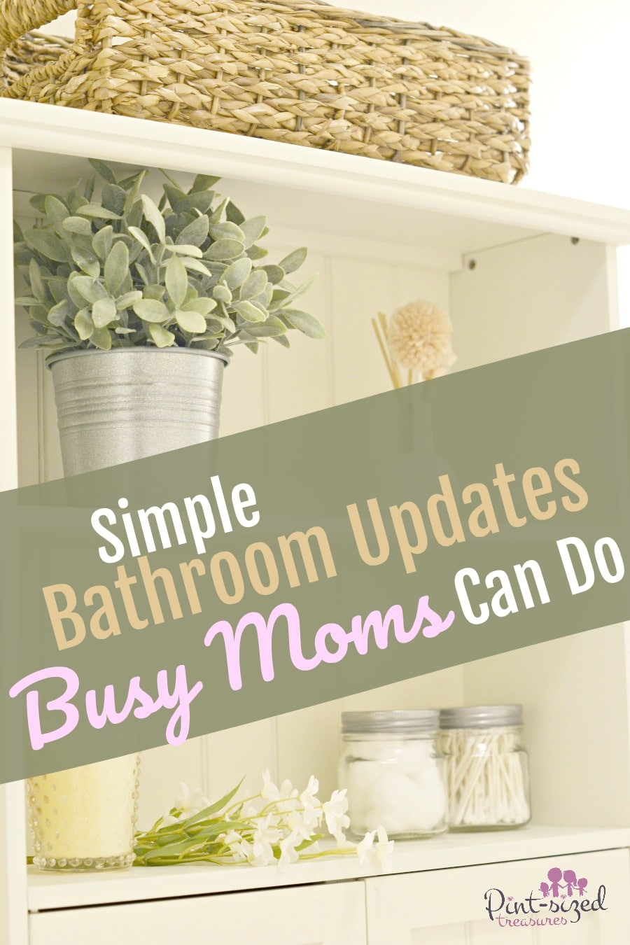 simple bathroom updates moms can do
