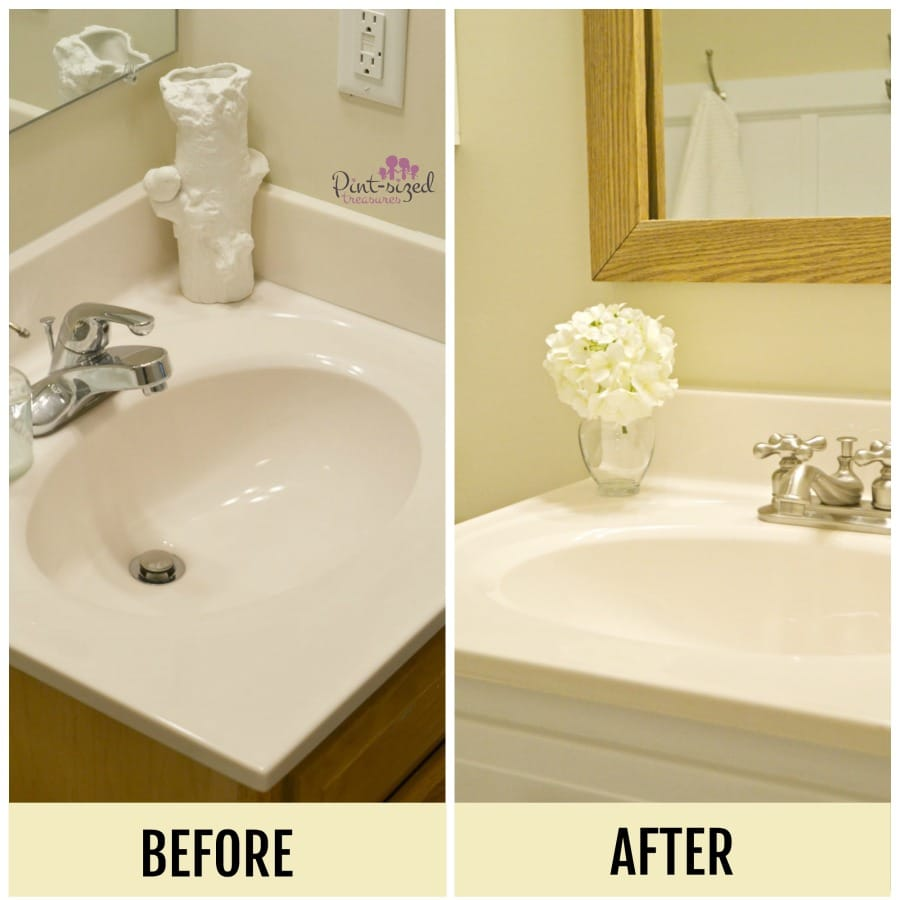 Simple Bathroom: Simple Bathroom Updates Busy Moms Can Do · Pint-sized