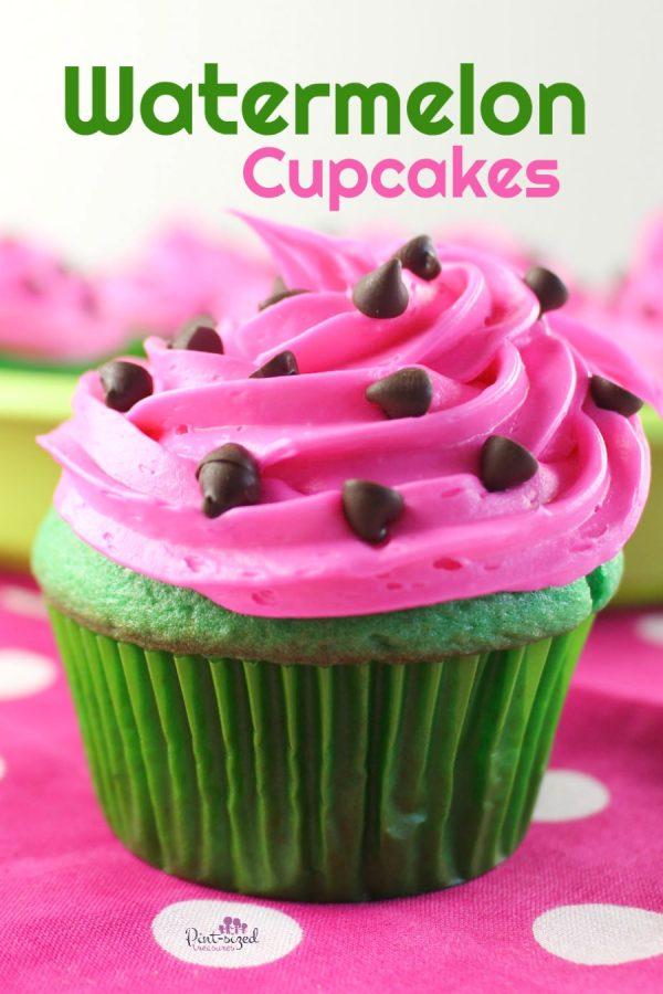 easy watermelon cupcakes recipe