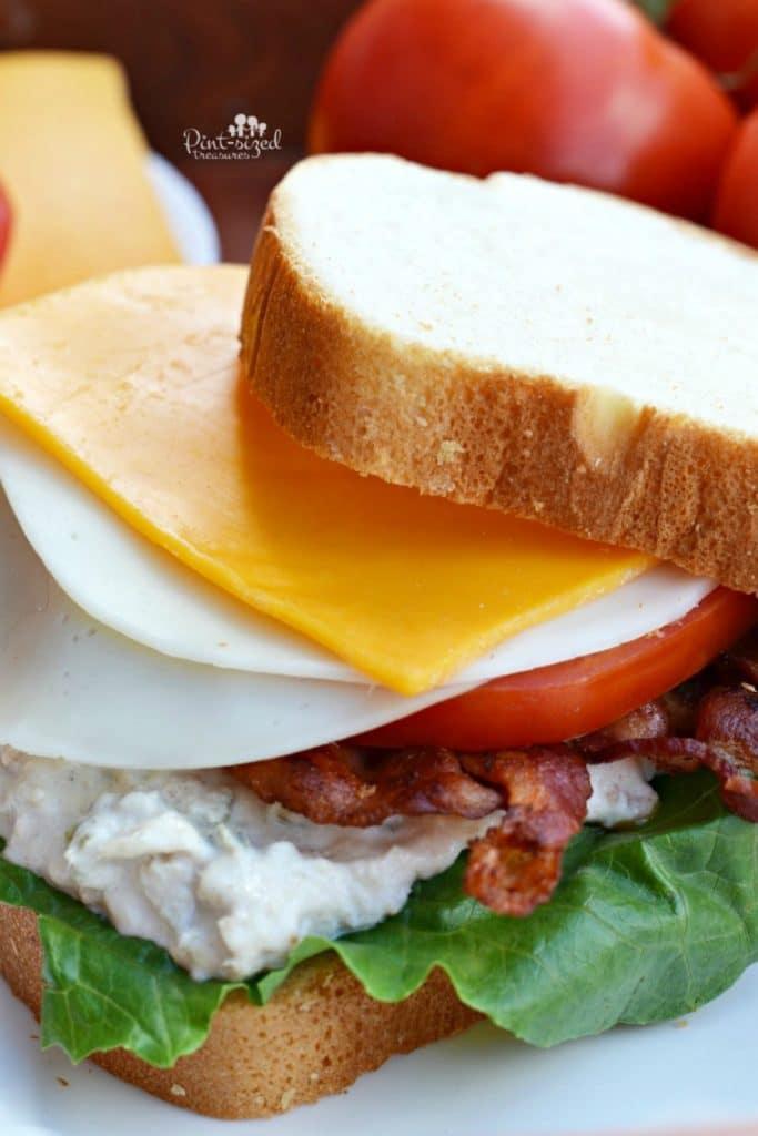 Easy Cheesy Tuna BLT Sandwich