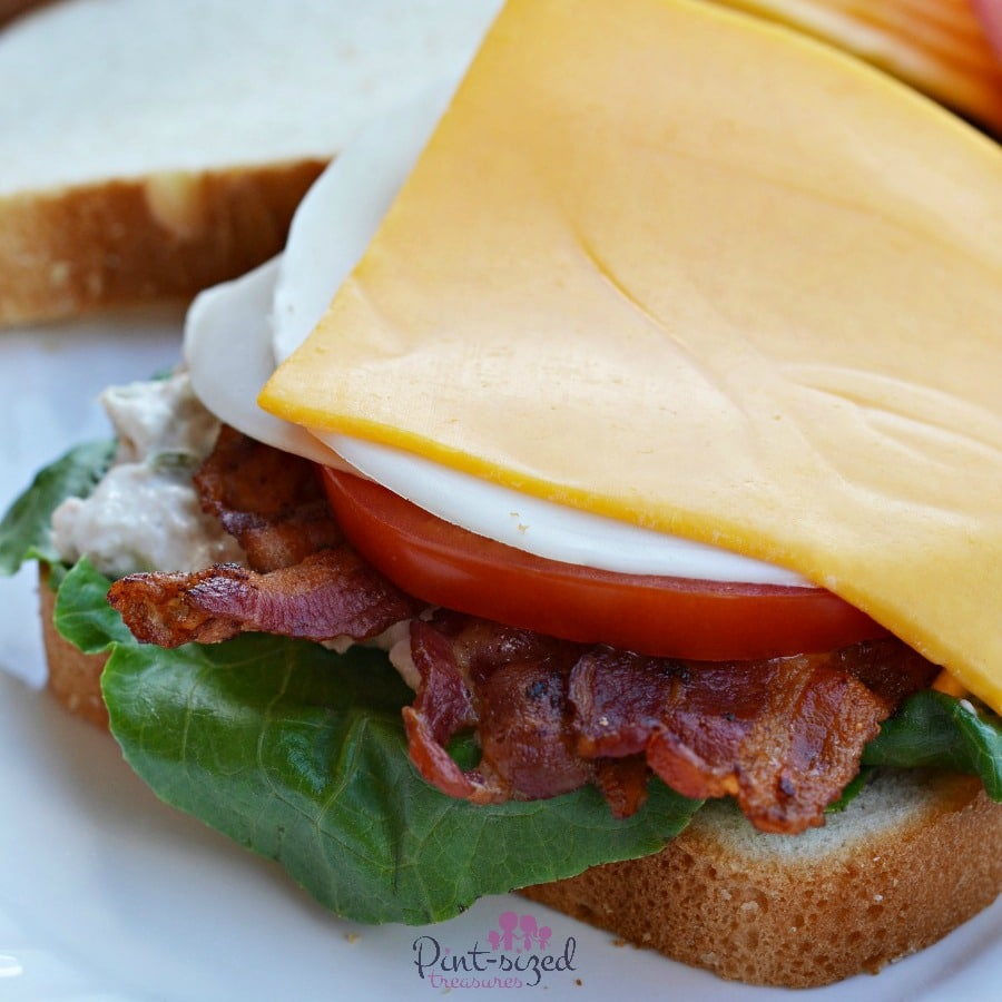 cheesy tun BLT recipe