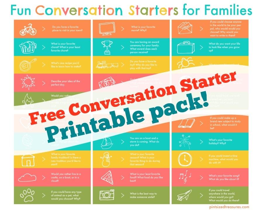 conversation starter printable