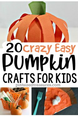 20 Crazy Easy Pumpkin Crafts for Kids