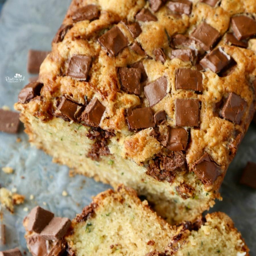 zucchini chocolate chunk bread recipe