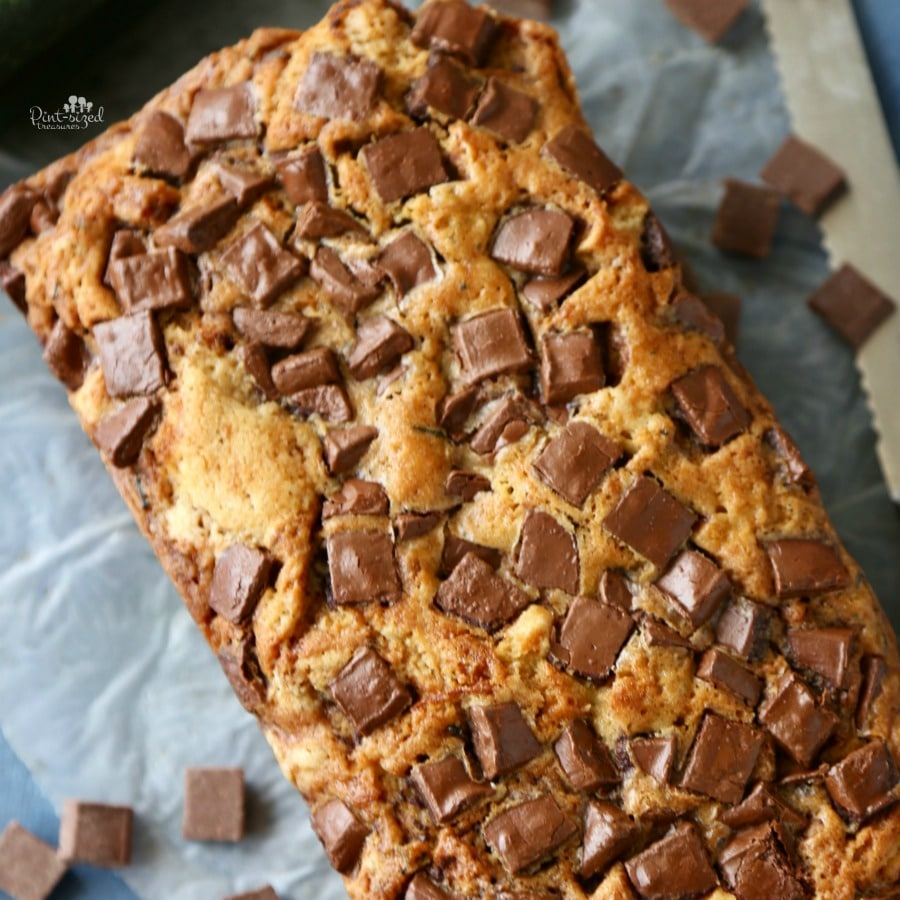 zucchini chocolate chunk bread recipe