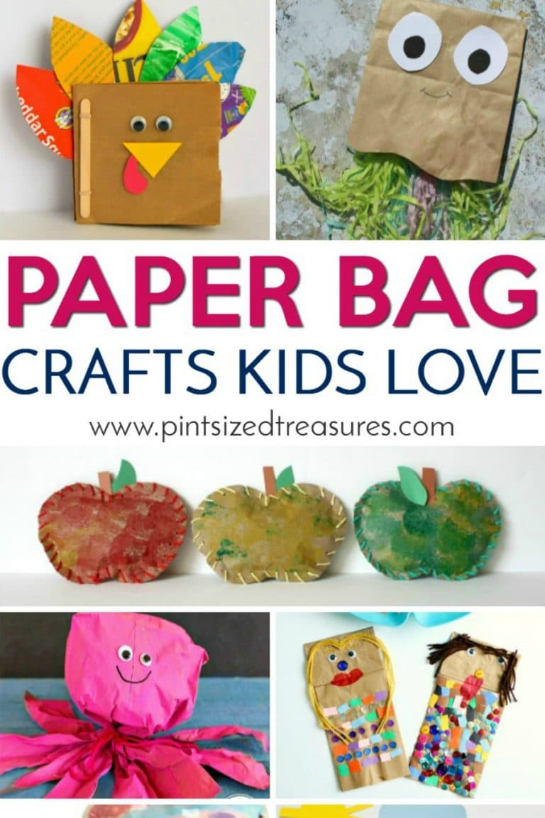 Creative, simple and super-fun paper bag crafts that kids will absolutely swoon over! #paperbags #Papercrafts #paperbagcrafts #easycrafts #craftsforkids #kidcrafts #paperbagactivities #preschoolcrafts #toddlercrafts #simplepapercrafts