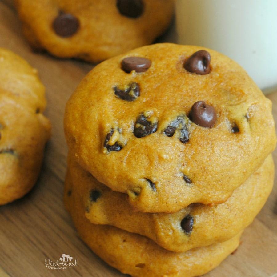 super soft pumpkin chocolate chip cookie recipe
