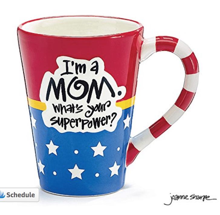 My favorite mom mug for minty coconut hot chocolate