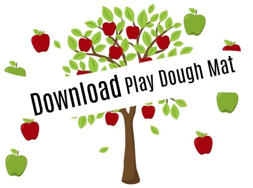 apple pie play dough mat