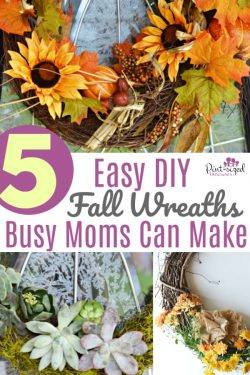 Five DIY Fall Wreaths Busy Moms Can Make