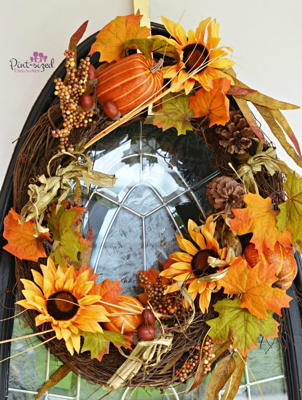 Easy DIY fall wreath tutorial