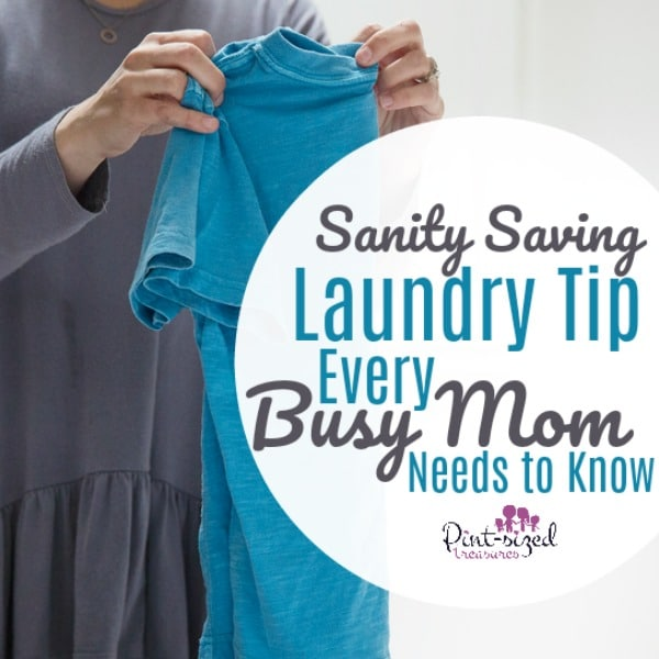 The very best sanity saving laundry tip I've ever read!
