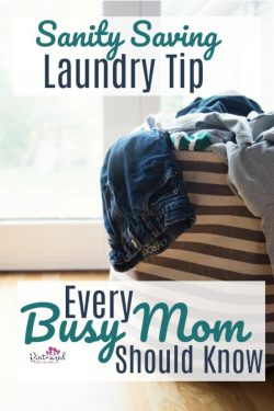 This is the ONE sanity saving laundry tip the every busy mom needs to know! It's time-saving, stress-relieving and so incredibly simple. Definitely an Aha moment in a busy mom's journey!