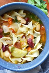 hearty vegetable minestrone soup recipe that comforts the soul!