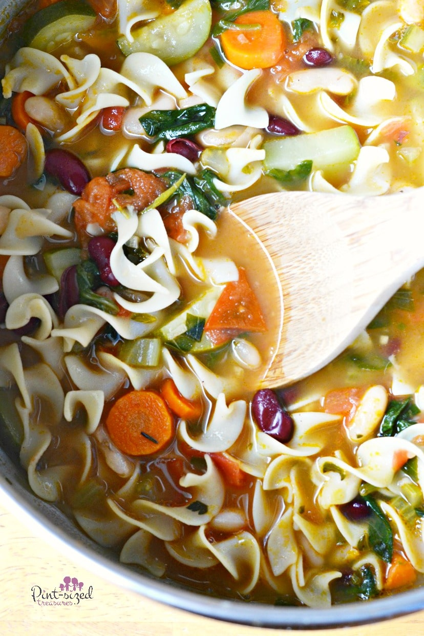 simple hearty vegetable minestrone soup recipe that comforts the soul