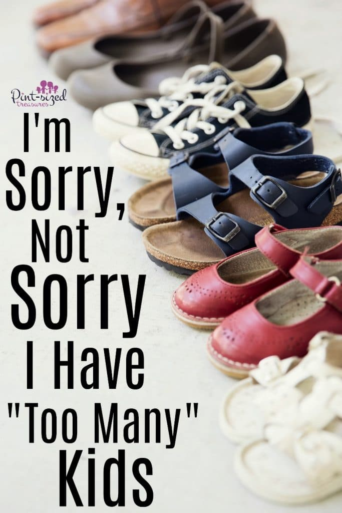I'm Sorry, Not Sorry, I Have Too Many Kids