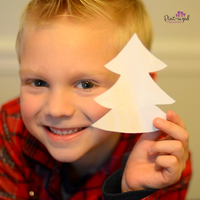 DIY Christmas tree garland craft for kids