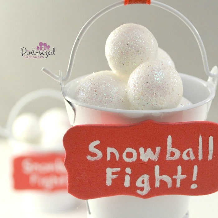 diy snowball fight Christmas  ornaments
