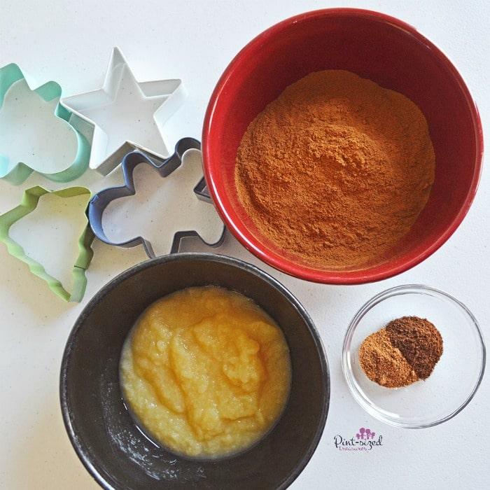 cinnamon gingerbread men ornament