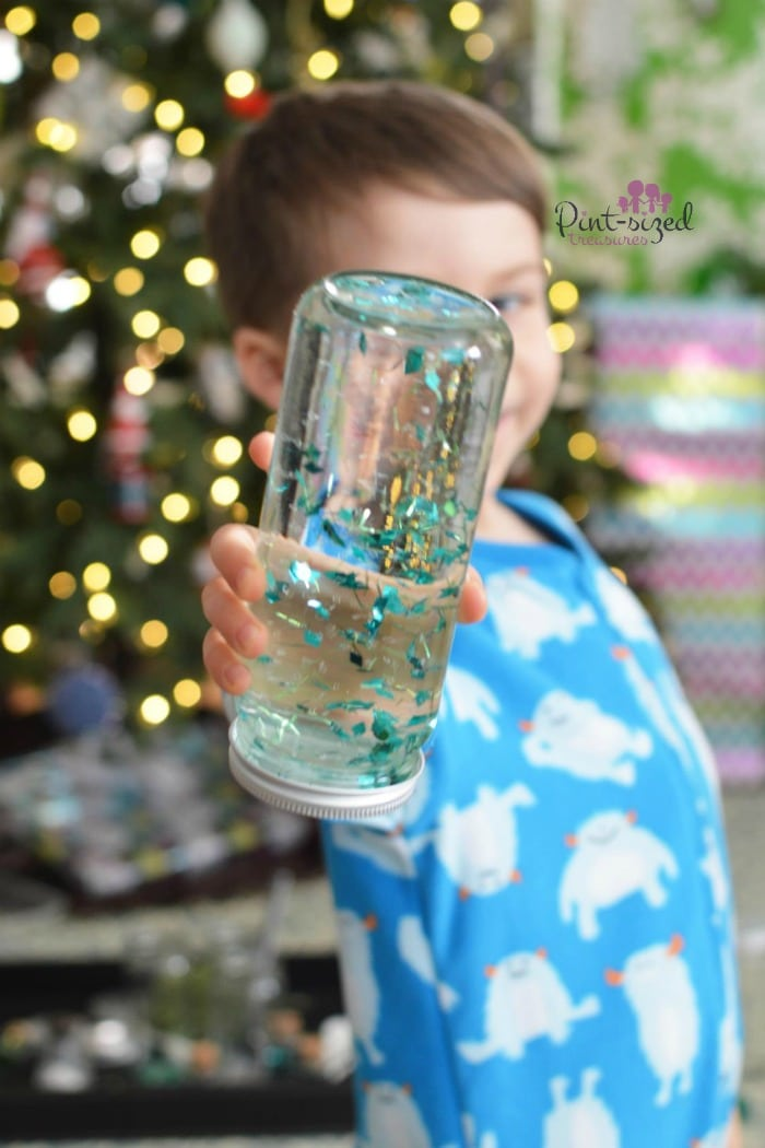 easy diy snow globe that kids can make
