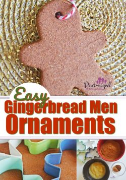Easy Salt Dough Gingerbread Men Ornaments