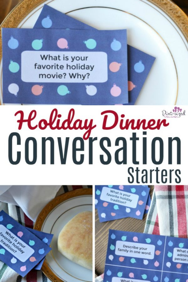 Oooh! These holiday dinner conversation starters are just what the traditional holiday dinner needs! Such a runway to get friends and family chatting about things that REALLY matter! #holidaydinner #conversationstarters #printables