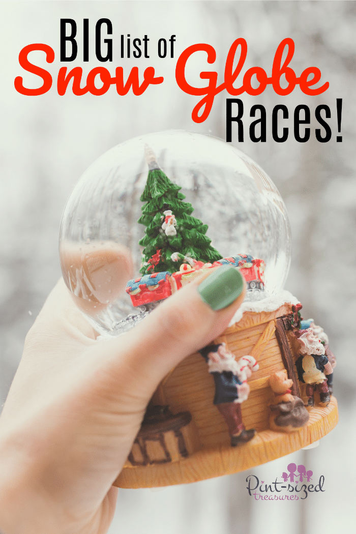 Enjoy your favorite snow globe in a NEW way --try Snow Globe races! Print out this cute and simple set of Snow Globe races to get started on a simple, family Christmas game that's great for many ages!