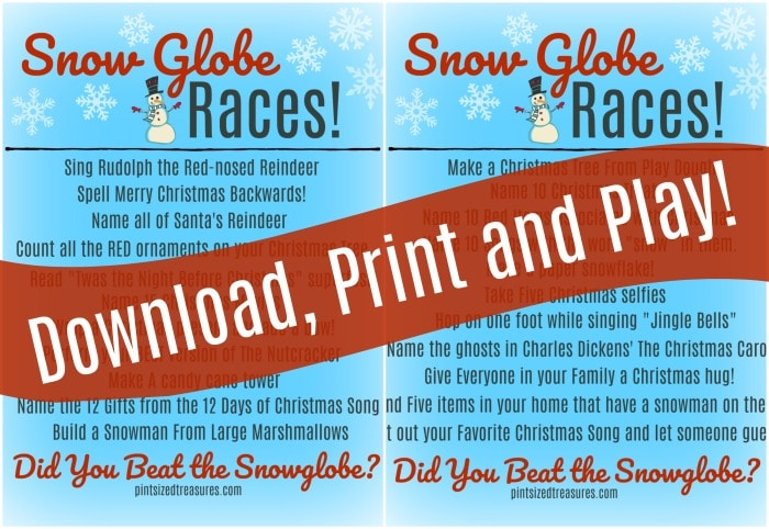 snow globe races