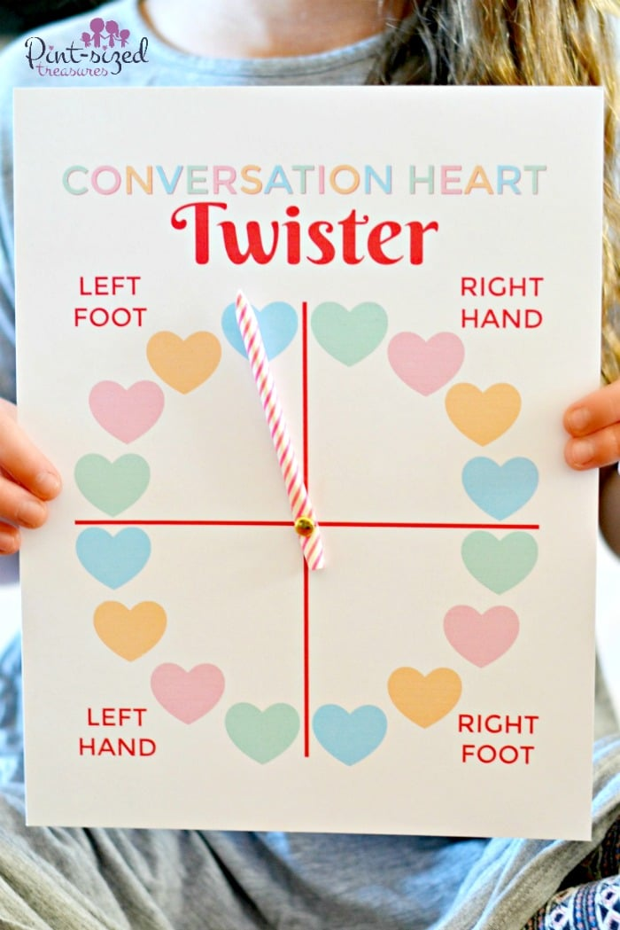 photograph regarding Twister Spinner Printable titled Printable Communication Hearts Twister Sport · Pint-sized