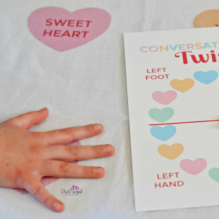 easy printable twister game for valentine''s day