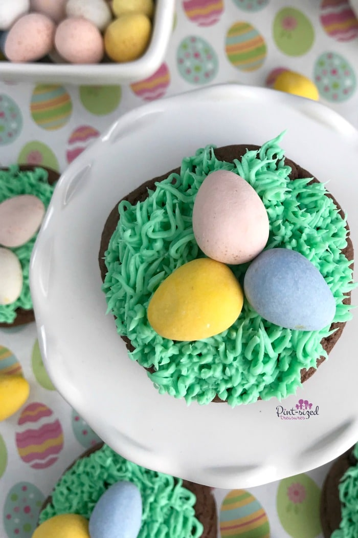 Easter egg cookies made from cake mix